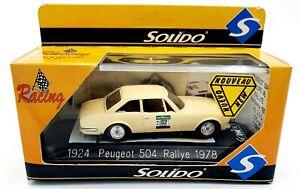 EBOND Modellino 1924 Peugeot 504 Rallye 1978 - Solido - 1:43 - 0110.