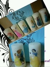Printed decorative pillar Candles -  wedding, engagement gifts etc any occasion