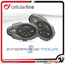 Interphone Tour - Interfono Bluetooth da Casco Moto Cellular Line - Doppio