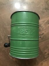 "1930's BROMWELLS' FLOUR SIFTER ""Bee"" Medium Green Color (t52)"