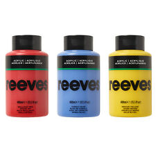 Reeves Art & Craft Acrylic Paint 400ml - 11 Colours Available NEW Design
