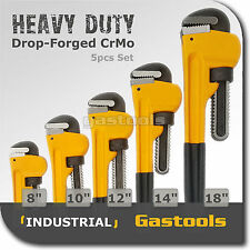 "PIPE WRENCH STILLSON 8"", 10"", 12"", 14"", 18"" Heavy Duty 5pcs Set Drop-Forged"