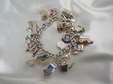 Englisches Bettelarmband Sterlingsilber mit 29 Charms