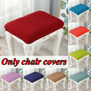Elastic Jacquard Stool Chair Cover Seat Protector Cushion Cover Dining Slipcover