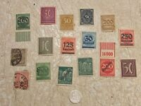 1874 E  GERMANY 20 P SILVER 16 STAMP1889 3P 1874 10P UNC 10  50 200,000 MARK LOT