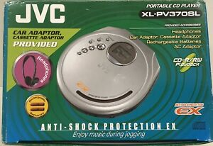 JVC Portable CD Player XL-PV370SL Bundle w/ Car Power Adaptor Cord Hyper-Bass