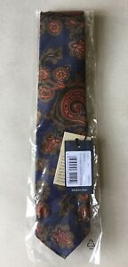 DRAKE's fabulous handmade pure silk Paisley tie. New, with tags and in wrapping