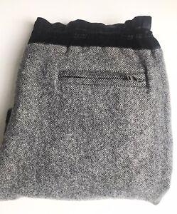 Dolce & Gabbana Sweatpants / Joggers, Herringbone, Wool Blend, Size XL (50)