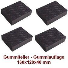 Gummiteller für Hebebühne 160x120x40 mm - Gummiauflagen -Auflageteller - Italien