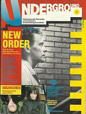 UNDERGROUND MAGAZINE 14 MAY 1988-NEW ORDER COVER