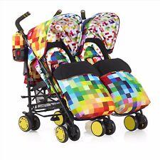 Cosatto Supa Dupa Twin Stroller - Pixelate CT3389