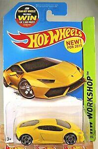 2015 Hot Wheels #222 HW Workshop-Garage LAMBORGHINI HURACAN LP 610-4 YellowVaria