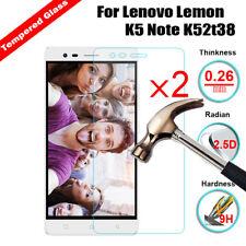 2Pcs For Lenovo K3 K3 Note K5 K6 ZUK Z2 X3 Real Tempered Glass Screen Protector