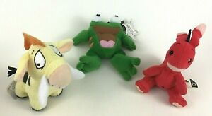 Neopets 3pc Plush Stuffed McDonalds Happy Meal Toys 2004 Frog Hog Kangaroo