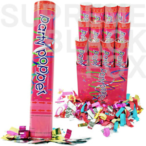 "Party Popper Confetti Cannon Twist-to-Shoot Wedding Birthday Shooter Blaster 12"""
