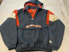 New listing Chicago Bears Vintage Starter Embroidered Winter Jacket Sz XL 90s Coat Pullover