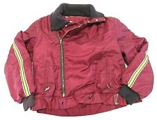 70s SKI-DOO Bombadier Long Sleeve Snowmobiling Jacket Maroon Zip Up Canada Made