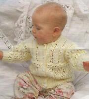 "Baby Girls  Knitting Pattern Cardigan 16-26"" Double Knitting  207"