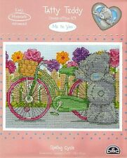 DMC TATTY TEDDY ME TO YOU SPRING CYCLE COUNTED CROSS STITCH KIT - NEW 2015