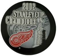 2002 STANLEY CUP CHAMPIONS SHADOW LOGO DETROIT RED WINGS NHL OFFICIAL PUCK 🇸🇰