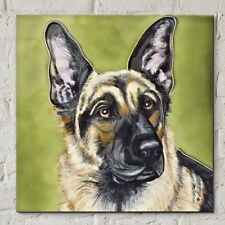 Alsatian 8x8 Decorative Ceramic Picture Art Tile Dog Pets Kitchen Gift 05773