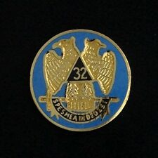 Masonic Scottish Rite 32nd Degree Eagle Round Lapel Pin (SR-6) EES