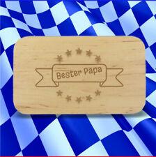 """Frühstücksbrett """"Bester Papa"""" Banner"""