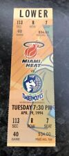 1993-94 MIAMI HEAT VS MINNESOTA TIMBERWOLVES NBA BASKETBALL FULL TICKET STUB