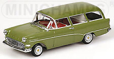 Opel Rekord P1 Caravan Olympia 1957-60 Green Dark-Green 1:43 Minichamps