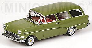 Opel Record P1 Caravan OLYMPIA 1957-60 Green Dark-Green 1:43 Minichamps