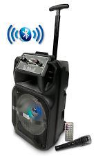 "Lige 1709 Altavoz Party 8 LED HiFi Bluetooth Karaoke Trolley 8"""