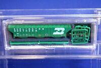 Burlington Northern N Scale 3-Bay Rib-Sided Hopper Car Kit /Intermountain 449XXX
