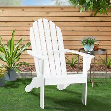 Mainstays Wooden Outdoor Adirondack Chair, WHITE
