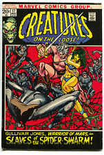 Creatures On The Loose 17 Marvel 1972 FN VF Warrior of Mars Spiders