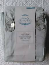 SIMPLY SHABBY CHIC, TWIN SHEET SET, EMBROIDERY, BRAND NEW