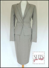 M&S WOMAN • PENCIL SKIRT SUIT • LIGHT GREY • BUSINESS • OFFICE • WORK • 12 • NWT