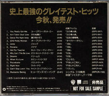 VAN HALEN Greatest Hits Coming Soon JAPAN Only PROMO CD 1996 MEGA RARE!!