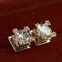 18k gold gf made with SWAROVSKI crystal bridesmaid wedding party stud earrings