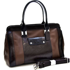 New Dasein Women Leather Briefcase Satchel Handbag Tote Bags Shoulder Bag Purse