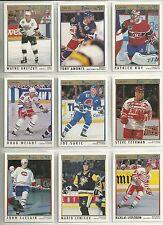 1991-92 O-PEE-CHEE Premiere  198-card Hockey Set   LeClair ROOKIE  +++