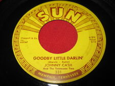 JOHNNY CASH 45 - GOODBYE LITTLE DARLIN  - SUN 331