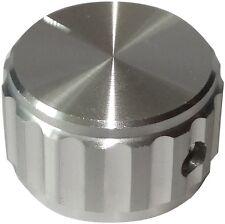 Bouton de potentiomètre pour axe lisse 6.35mm Ø25x15mm aluminium Couleur: argent
