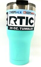 RTIC 20 oz Thermal Tumbler Stainless Steel Coffee Mug Travel Cup Matte TEAL 1334