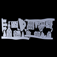 Village House Trees Cutting Dies Stencil for DIY Scrapbooking Album Decorativ_SL