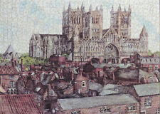 "1000 PIECE WENTWORTH WOODEN JIGSAW PUZZLE. ""LINCOLN CATHEDRAL"" VICTORIA ELBROCH"