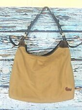 Dooney & Bourke Beige Nylon Shoulder Bag Leather Strap