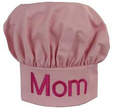 Mom Light Pink Chef Hat Puffy Hot Pink Monogram Mother's Day Gift Mommy Mother