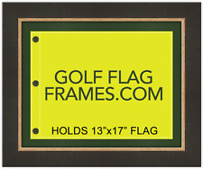 16x20 Brown Flag Frame, brn-007, holds 13x17 Masters flag; flag not incl