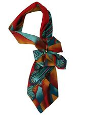 Tie women's. Silk 100% Italy. Collar, necklace, necktie, cravat. Hand-made