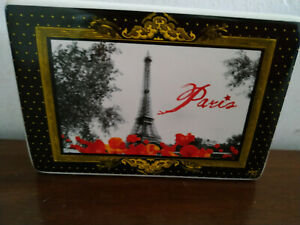 13039)Ceramic letter/napkin holder Paris souvenir 4.5cm x 8cm x 12cm pretty